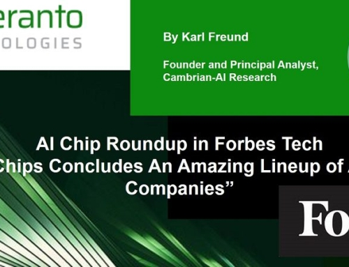 """AI Chip Roundup in Forbes Tech: """"Hot Chips Concludes An Amazing Lineup of AI Chip Companies"""""""